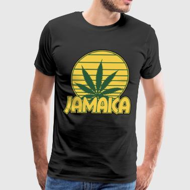Jamaica Jamaican Weed Leaf Logo Nationality - Men's Premium T-Shirt