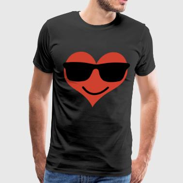 Smile Heart Emojis with Glasses - Men's Premium T-Shirt