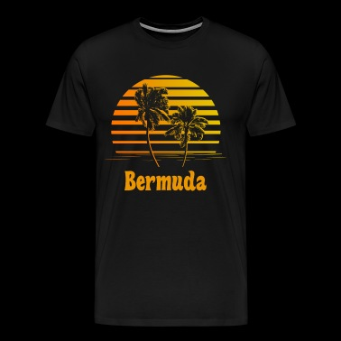 Bermuda Sunset Palm Trees - Men's Premium T-Shirt