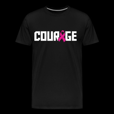 Courage Breast Cancer Awareness Cancer T Shirts - Men's Premium T-Shirt