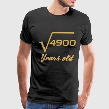 Square Root Of 4900 70 Years Old - Men's Premium T-Shirt