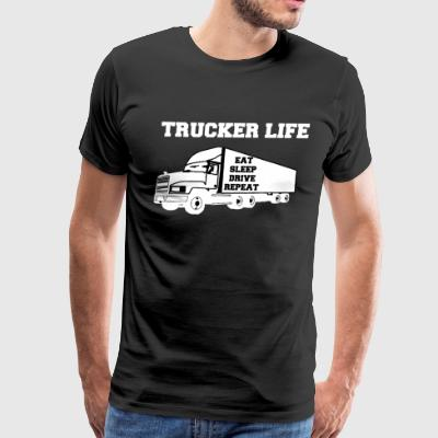 Trucker Life - Men's Premium T-Shirt