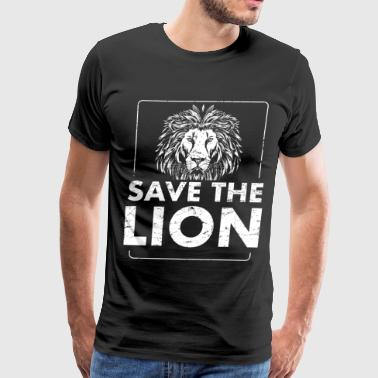 Save the Lion - Men's Premium T-Shirt