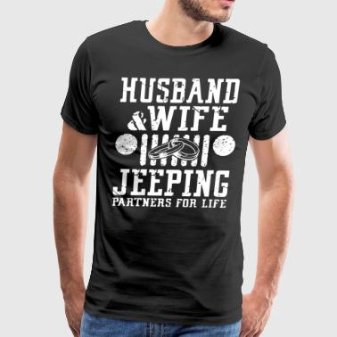 Husband and wife jeeping partners for life - Men's Premium T-Shirt