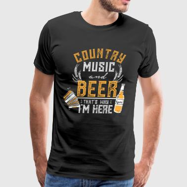 Country music and beer gift love relax listen - Men's Premium T-Shirt