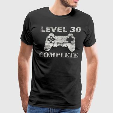 30th Birthday-Level 30 Complete-Retro Gamer Gift - Men's Premium T-Shirt