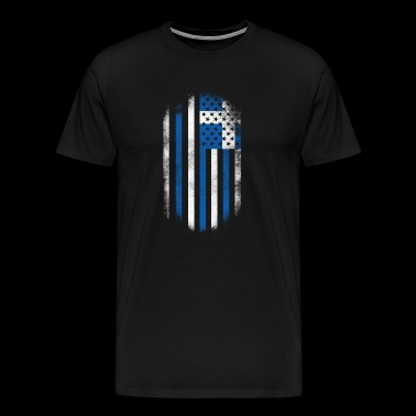 Greek American Flag Greece and USA Design - Men's Premium T-Shirt