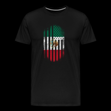 Mexican American Flag Mexico and USA Design - Men's Premium T-Shirt