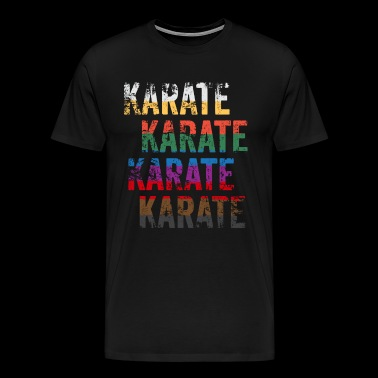 Funny Karate Design Karate Karate Karate Belt Colors Large Light - Men's Premium T-Shirt