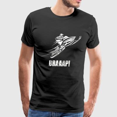 Brap Funny Snowmobile - Men's Premium T-Shirt