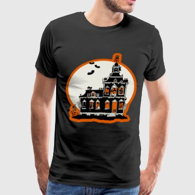 Vintage Style Haunted House Happy Halloween - Men's Premium T-Shirt