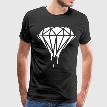 Diamond Dripping Blood Celine Homies Dope - Men's Premium T-Shirt