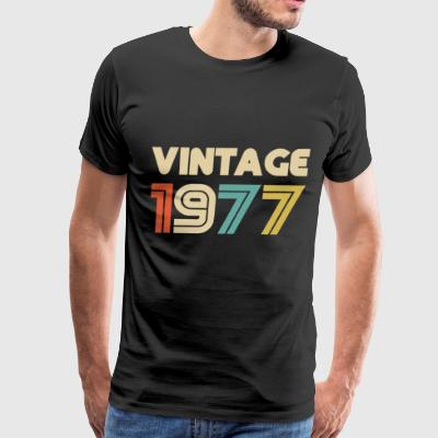 Vintage 1977 40th Birthday Gift T Shirt for Men - Men's Premium T-Shirt