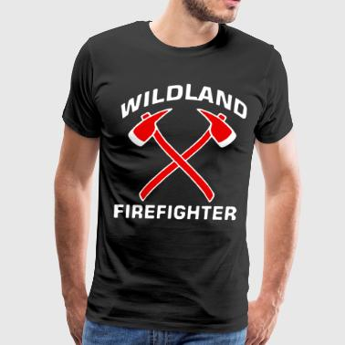 Wildland Crossed Axes Firefighter T Shirts - Men's Premium T-Shirt