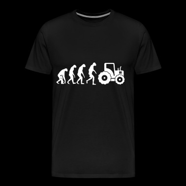 Evolution Of Tractor Farmer T Shirts - Men's Premium T-Shirt