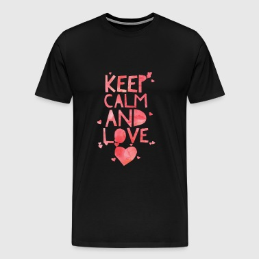 Cute and Cool Love Clothing - Keep Calm and Love - Men's Premium T-Shirt