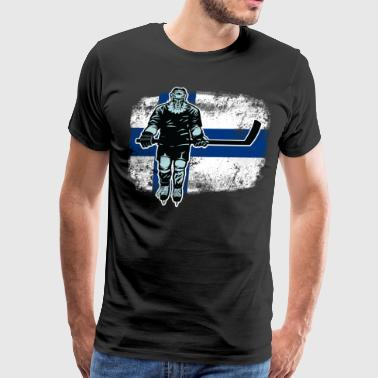 Finnish Lion Hockey Player - Men's Premium T-Shirt