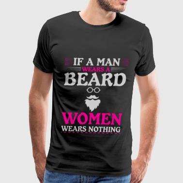 beard bearded man woman present - Men's Premium T-Shirt