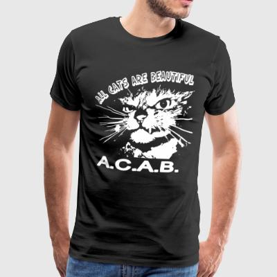 All cats are beautiful a c a b - Men's Premium T-Shirt