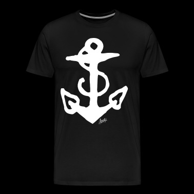 SAILOR JERRY Tattoo Anchor - Men's Premium T-Shirt
