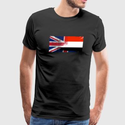 British Yemeni Half Yemen Half UK Flag - Men's Premium T-Shirt