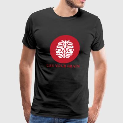 Brain - use your brain - Men's Premium T-Shirt