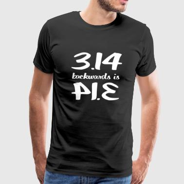 Pi - Pi Backwards is Pi - Men's Premium T-Shirt