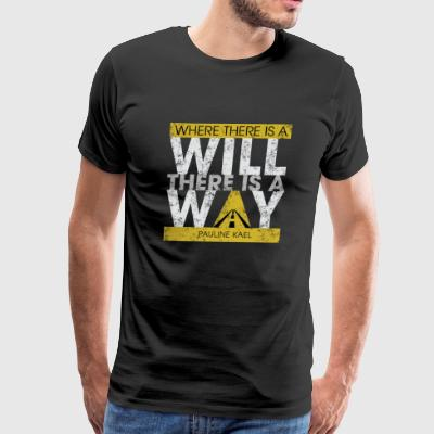 Fighting for success - There is a way - Men's Premium T-Shirt