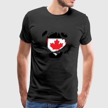 Proud Canada flag - Awesome canada flag t-shirt - Men's Premium T-Shirt