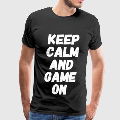 Game - Keep Calm and Game On - Men's Premium T-Shirt