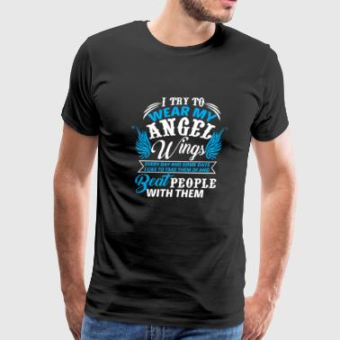 Angel wing - I Try To Wear My Angel Wings Every - Men's Premium T-Shirt