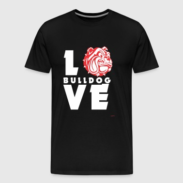 Bulldog - Love Bulldog! - Men's Premium T-Shirt