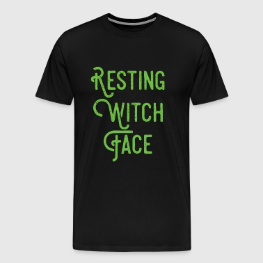 Witch - Resting Witch Face - Men's Premium T-Shirt