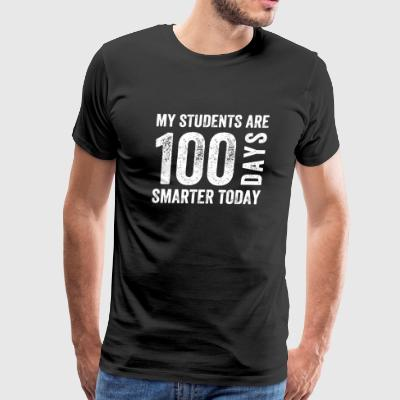 Students - My Students are 100 days Smarter toda - Men's Premium T-Shirt