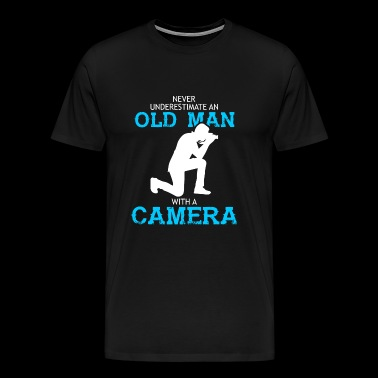 Camera - Old Man With A Camera T Shirt - Men's Premium T-Shirt