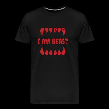 Beast - i am beast - Men's Premium T-Shirt