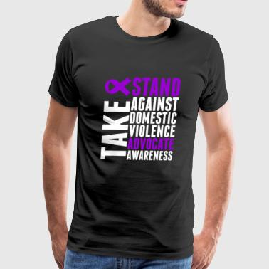 Awareness - Take Stand Against Domestic Violence - Men's Premium T-Shirt