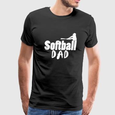 Softball dad - softball dad - Men's Premium T-Shirt