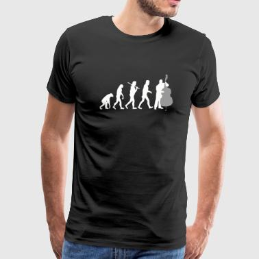 Double bass - Double Bass Player Evolution Funny - Men's Premium T-Shirt