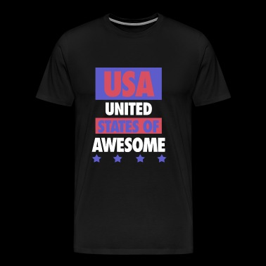 USA - United States of Awesome - USA - Men's Premium T-Shirt