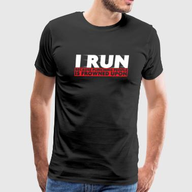 Run - I run - Men's Premium T-Shirt