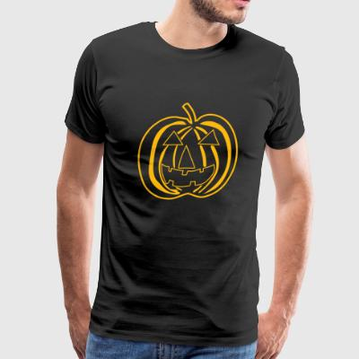 Halloween - Big Texas Halloween Pumpkin - Men's Premium T-Shirt