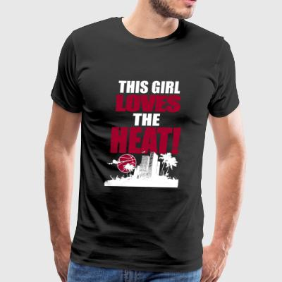 Volleyball - THIS GIRL LOVES THE HEAT - Men's Premium T-Shirt