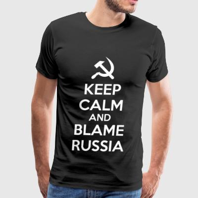 Russia - Keep Calm and Blame Russia or Russian H - Men's Premium T-Shirt