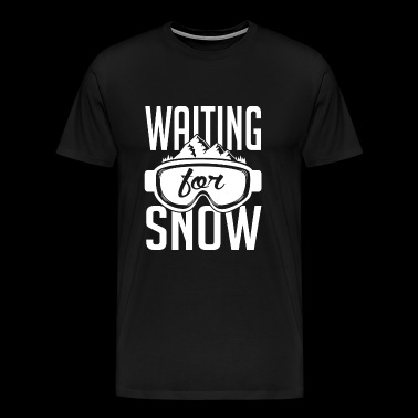 Skiing - Skiing: Waiting for snow - Men's Premium T-Shirt