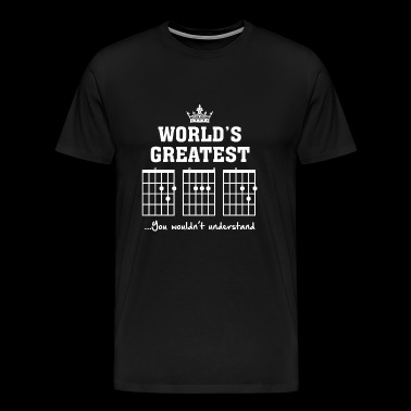 Guitar - F chord DAD Funny Guitar Tee- Unique Fa - Men's Premium T-Shirt