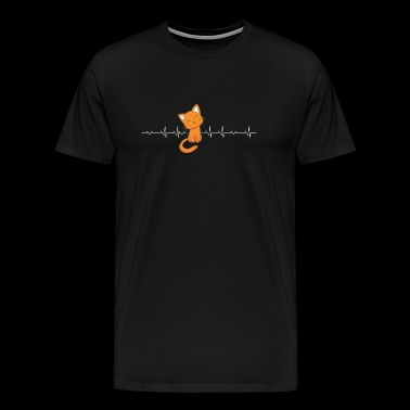 Cat - Cat Heartbeat - Funny Cat - Men's Premium T-Shirt