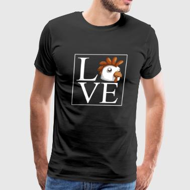 Chicken - Love Chicken Shirt - Men's Premium T-Shirt