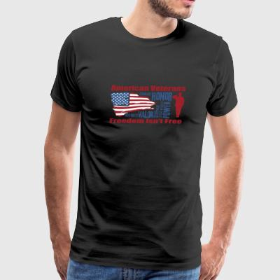 American veterans - Courage honor power valor - Men's Premium T-Shirt
