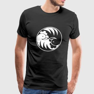 Black and white Chicken T-shirt - Men's Premium T-Shirt